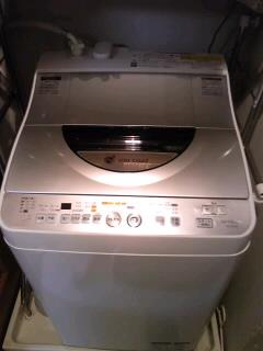 トラックと洗濯機